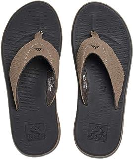 Reef Men's Fanning Sandal, light grey/blue, 13 M US