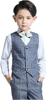 フォーマル スーツ 子供タキシード キッズ ベスト ズボン シャツ 3点セット 男の子