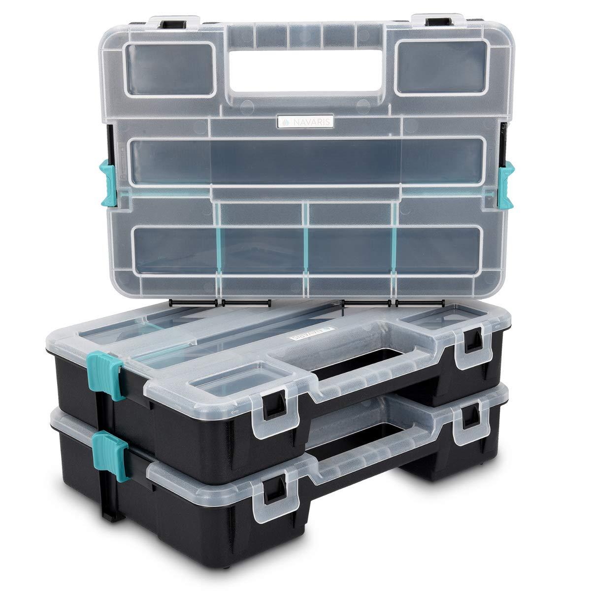 Navaris organizador de tornillos - Caja de almacenaje de plástico para bricolaje - Compartimentos de diferentes tamaños para almacenaje de tuercas: Amazon.es: Bricolaje y herramientas