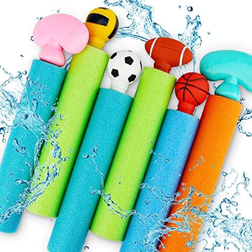 Water Squirt Guns for Kids, 6 PCS Foam Blaster Soaker Gun with Storage Bag,...