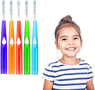 Interdental Brush Dental Brushes Between Teeth Braces Cleaning Slim Brush Floss Brushes for Children and Adult with Sizes 0.6-1.2mm IRCHLYN (50 Pcs)