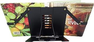 Cookbook Stand, Recipe Book Holder Stand for Kitchen, Desktop Book Stand-Black…