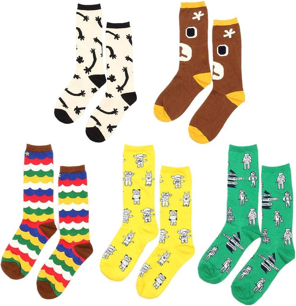 5 Pairs Women Animal Socks Funny 3D El Paso Mall Cute Puppy Max 41% OFF Casua Cat