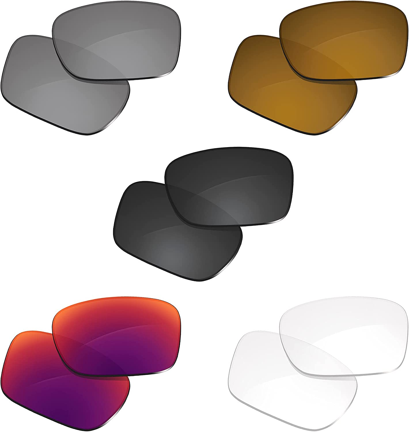 Glintbay 5 Pairs Replacement Lenses for Oakley Holbrook P OO9102 Shipping included Baltimore Mall
