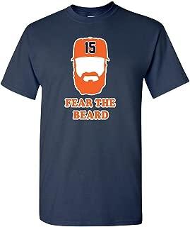 Navy Houston Beltran Fear The Beard T-Shirt