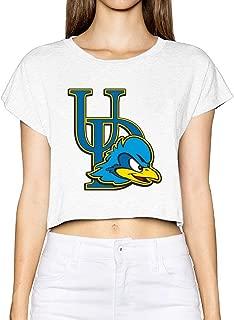 University Of Delaware Mascot Fightin' Blue Hens Popular Women's Crop Tops