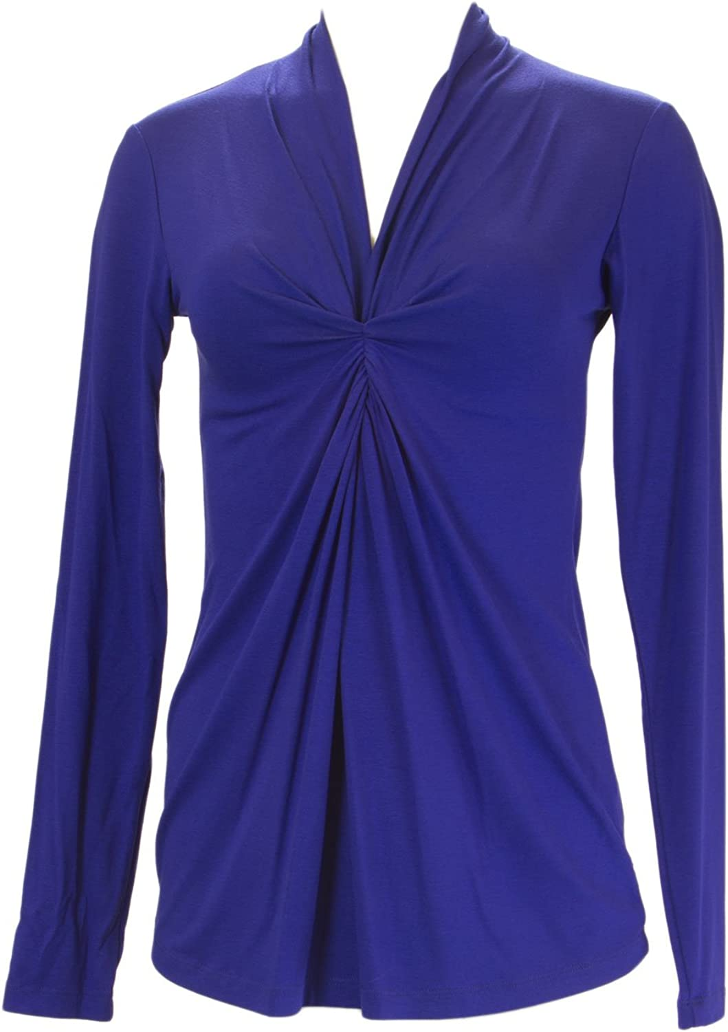 ANALILI Women's Front Twist Accent Long Sleeve Top 384IA10