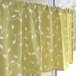 Küchen Fenster kurz Gardine Bistrogardine Scheibengardinen Querbehang mit Muster