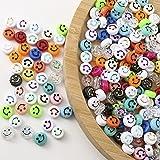 HERZWILD Cuentas sonrientes para enhebrar, 300 unidades, emoji, perlas para manualidades y joyas (cuentas sonrientes en 3D)