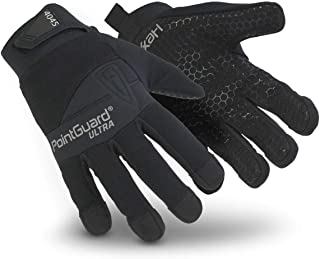 HexArmor PointGuard Ultra 4045 Police Search Gloves with Needle and Puncture Resistance, Medium