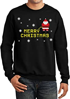 merry christmas sweater santa peeing