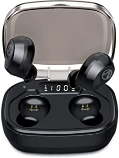 U-ROK Bluetooth 5.0 Wireless Earbuds with 1600mAh Portable Charging Case, Touch Control in-Ear Earphones Built-in Mic HD S...