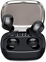 U-ROK Bluetooth 5.0 Wireless Earphones with 1600mAh Portable Charging Case, Touch Control in-Ear Earbuds Built-in Mic HD Stereo Sound IP67 Waterproof Headphones for Running Sports