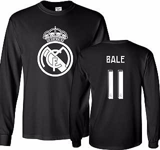 Tcamp Real Madrid Shirt Gareth Bale #11 Jersey Men's Long Sleeve T-Shirt