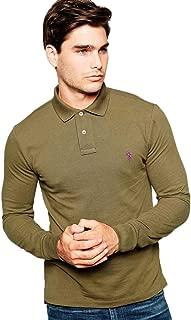 Custom Fit Long Sleeve Polo - Defender Green - XL