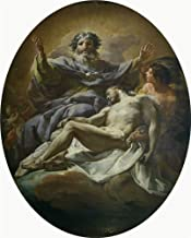 Polyster Canvas ,the Beautiful Art Decorative Prints On Canvas Of Oil Painting 'Giaquinto Corrado La Trinidad 1755 56 ', 18 X 22 Inch / 46 X 57 Cm Is Best For Powder Room Gallery Art And Home Gallery Art And Gifts