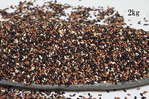 さぬき古代米●綺麗ブレンド【内側から綺麗に】(赤米2種・黒米2種・緑米・餅玄米)[1kg真空包装×2]●2kg