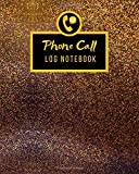 Phone Call Log Notebook: Daily telephone Memo message tracker record and contact Log Book | Office Hotel Supplies Call Register voice mail Logbook | ... (8 x 10 in) (100 pages 6 Messages Per Page )