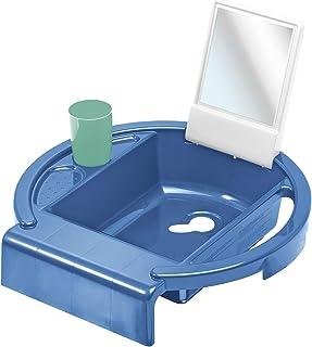 Rotho Babydesign barnhandfat Kiddy Wash, ska fästas på badkarskanten, 38,7 x 38,2 x 10 cm, cool blue, 20034 0315 01