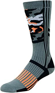 HOOey Mid-Calf Performance Socks Orange Multicolor Camo -- 1671FC1