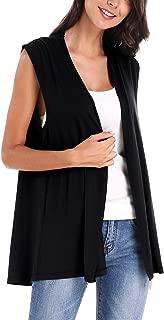 Urban CoCo Women's Sleeveless Open Front Cardigan Vest Coat