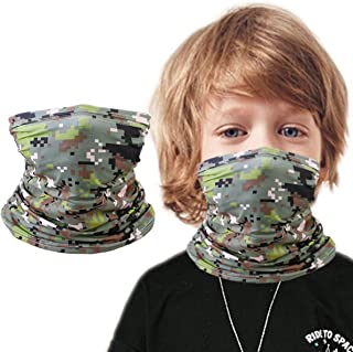 Kids Summer Protection Face Cover, Bandana Neck Gaiter Balaclava for Girls Boys Children Gift