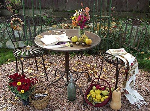 Casa Padrino Jugendstil Gartenmöbel Set Hangefertigte Gartenmöbel, Farbe:rot