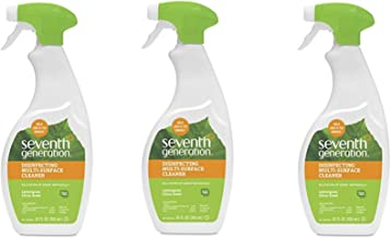 Seventh Generation Disinfecting Multi-Surface Cleaner, Lemongrass Citrus, 26 oz - 3 Pack