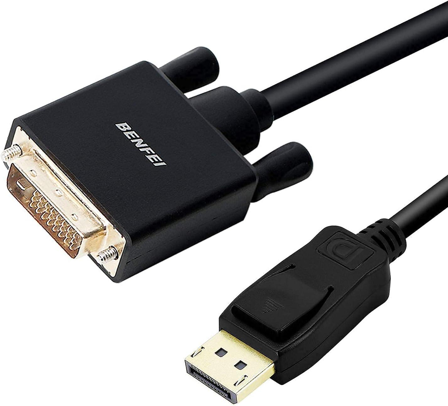 BENFEI Cable DisplayPort a DVI, 0,9 m Adaptador Macho a Macho Chapado en Oro para Lenovo, DELL, HP, ASUS y Otras Marcas