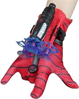 KKPLZZ Gant de Lanceur Spiderman, Gant de Cosplay en Plastique pour Enfants, Jouets de Poignet Lanceur de héros, Excellent...
