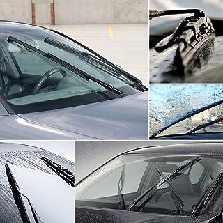 HugeAuto - Escobillas para limpiaparabrisas delantero, 22 pulgadas, 22 pulgadas, brazo sin soporte