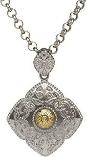 Celtic Warrior Necklace Silver & 18K Gold Bead Irish Made
