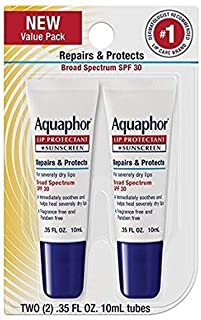 Aquaphor Lip Repair & Protect Tube Blister Card Dual Pack, 0.35 Ounce