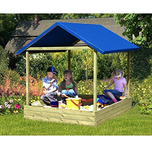 Gartenpirat Sophie 153x153 cm blauem Bild