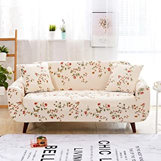 Jaoul All Cover Printing Elegant Floral High Stretch Couch Loveseat Cover Slipcover Furniture Protector with Two Pillow Cases, Flower Vine, Loveseat