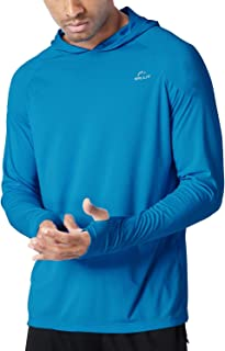 Willit Men's UPF 50+ Sun Protection Hoodie Shirt Long Sleeve SPF Fishing Outdoor UV Shirt Hiking Lightweight
