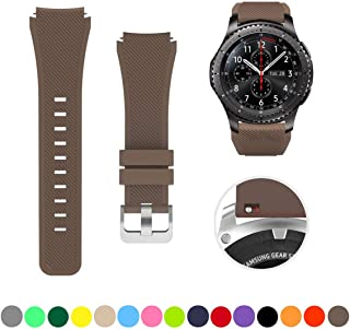 Minggo Bands for Samsung Gear S3 Frontier/Classic Watch Silicone Bracelet, Sports Silicone Band Strap Replacement Wristband for Samsung Gear S3 Frontier/S3 Classic (Coffee)