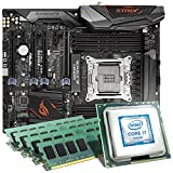 Intel Core i7-6950X / ASUS ROG Strix X99 Gaming Mainboard Bundle / 65536 MB | CSL PC Aufrüstkit | Intel Core i7-6950X 10x 3000 MHz, 64 GB DDR4, WaKü, GigLAN, 7.1 Sound, USB 3.1 Gen 2 | Aufrüstset | PC Tuning Kit