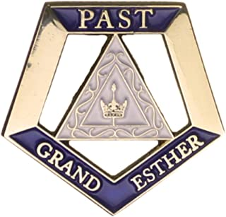 Hattricks Goodimpression OES Eastern Star Past Grand Esther One Inch Jewel Lapel Pin