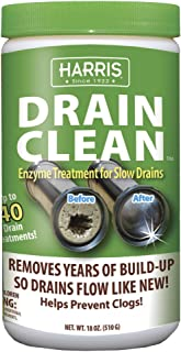 Harris Eco-Friendly Enzyme Drain Cleaner and Clog Remover, 40 Treatments