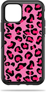 MightySkins Skin for OtterBox Symmetry iPhone 11 Pro - Pink Leopard | Protective, Durable, and Unique Vinyl Decal Wrap Cover | Easy to Apply, Remove, and Change Styles | Made in The USA