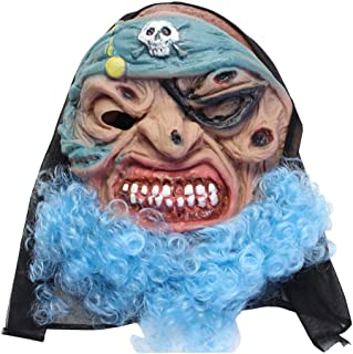 LUHUAISH AU Halloween Mask Halloween Horror Mask Masquerade Cos Party Horror Ghost Festival Scary Ghost Mask Latex Mask