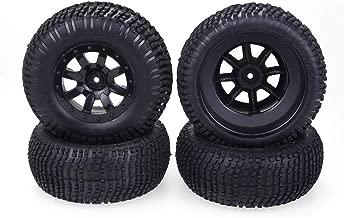Ktyssp 110MM Rubber Tyre Wheel Tire for 1/10 Slash HPI HSP LRP Short Course Truck Car
