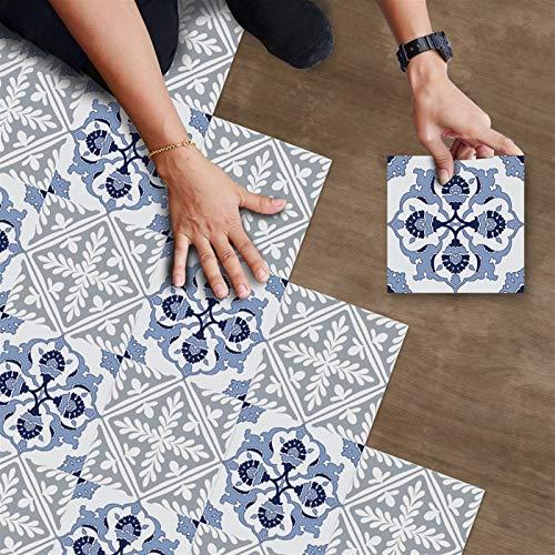 Pegatinas para azulejos de suelo vintage, antideslizantes, impermeables, para salpicaduras de cocina, para azulejos, pegatinas de vinilo extraíbles para suelo, para baño, sala de estar, dormitorio, de
