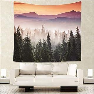 Yaosh Las ściana wiszący mgiełkowy las gobelin gwieździsty gobelin las drzewo gobelin narzuta koc dom pokój dekoracja ście...