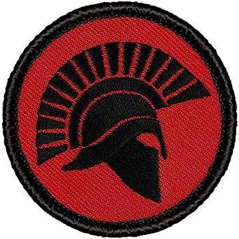 Morton Home Nihil ME Terret PVC Patch 3D Rubber Patches Spartan Army Military Hook Back Morale Patches Tactical Emblem Applique Combat Badge Gray
