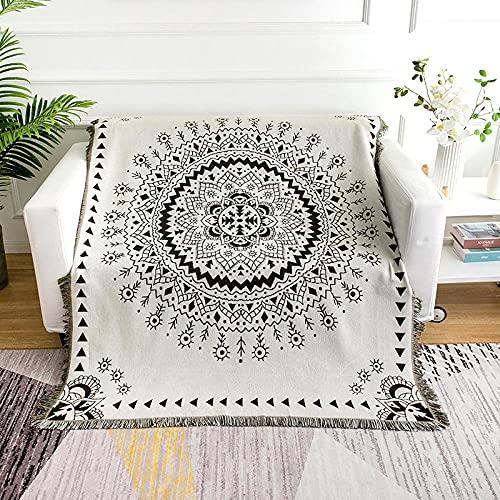 haoyunlai Manta para sillón o cama, manta de sofá, aire acondicionado, sofá, toalla de ocio, TV manta al aire libre, alfombra blanca, 160 cm x 260 cm