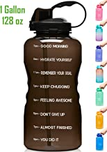 Venture Pal Large 1 Gallon/128 OZ (When Full) Motivational BPA Free Leakproof Water Bottle with Straw & Time Marker Perfec...