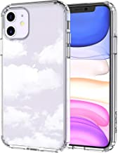 MOSNOVO iPhone 11 Case, Cloud Pattern Clear Design Transparent Plastic Hard Back Case with TPU Bumper Protective Case Cover for Apple iPhone 11 (2019)