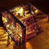 Aparador de maquillaje de espejo de glamour de niñ Casa de árbol de bricolaje Noche de carnaval Ensamblaje manual Modelo en miniatura 3D Kits de artesanía de invernadero para adultos - Casa de muñecas